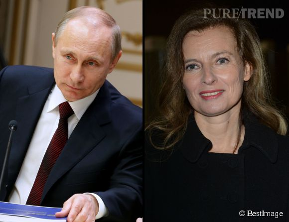 Valérie Trierweiler a trouvé un avantage à ne plus être Première dame : elle n'aura pas à serrer la main de Vladimir Poutine.