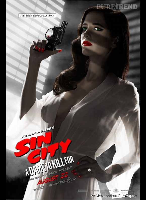 Eva Green sur l'affiche originale de Sin City 2 : J'ai tué pour elle.