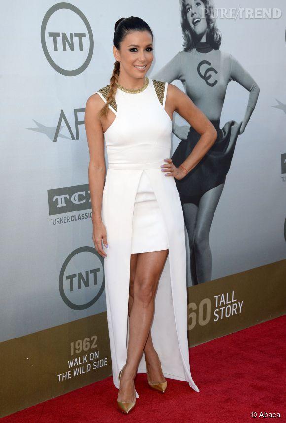 Eva Longoria en Sass & Bide lors de la soirée AFI Life Achievement Award : A tribute to Jane Fonda à Los Angeles le 5 juin 2014.