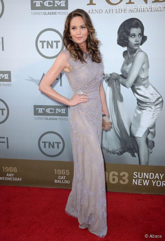 Diane Lane en Jenny Packham lors de la soirée AFI Life Achievement Award : A tribute to Jane Fonda à Los Angeles le 5 juin 2014.