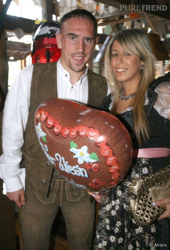 Pour sa femme Wahiba, Franck Ribéry ferait n'importe quoi! Ici en Allemagne pour la très traditionnelle  Fête de la bière .