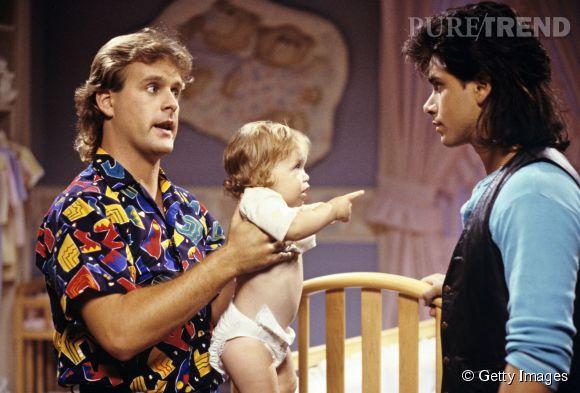 Dave Coulier et John Stamos dans La Fête à la maison en 1987.