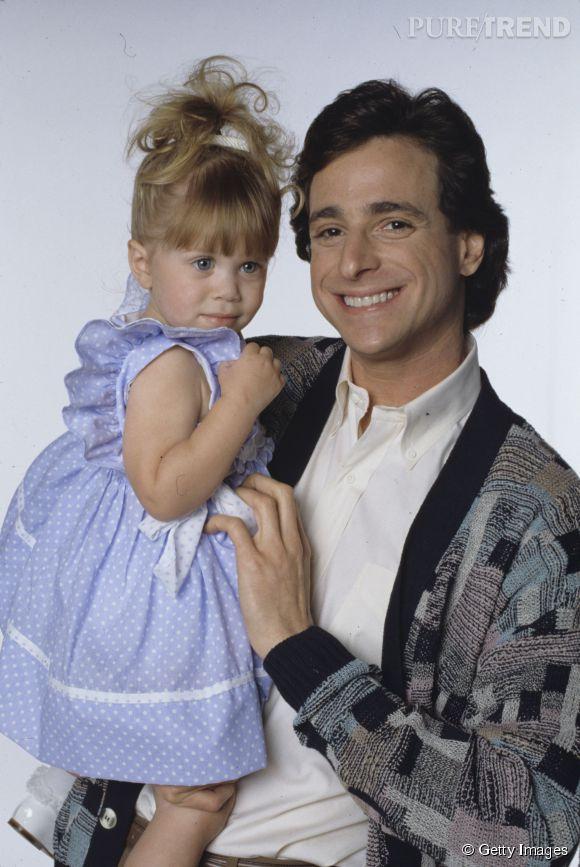 Ashley Olsen et Bob Saget dans La Fête à la maison en 1988.