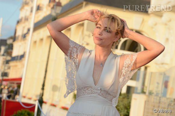 Emmanuelle Béart lors de la cérémonie de clôture du Festival du film romantique de Cabourg le 14 juin 2014.