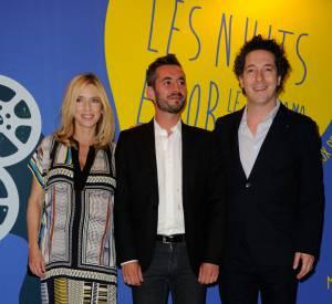 Léa Drucker, Xavier Legrand et Guillaume Gallienne au gala Panorama des Nuits en Or à Paris 16 juin 2014.