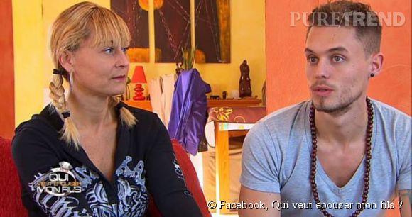 """Steven et sa mère Corinne, un maman exclusive, dans """"Qui veut épouser mon fils ?"""" saison 3."""