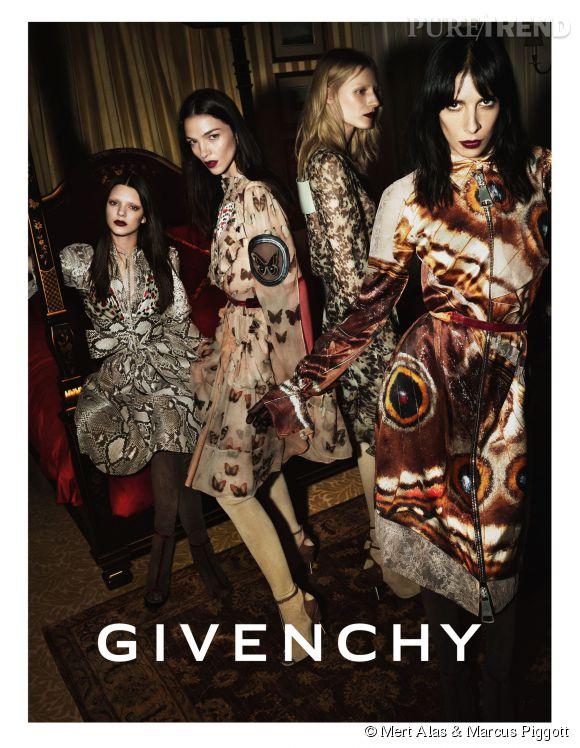 Kendall Jenner pose pour la campagne Automne-Hiver 2014/2015 de Givenchy.
