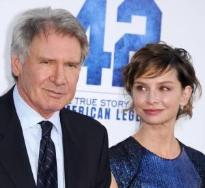"""Harrison Ford et sa femme Calista Flockhart lors de la première du film """"42"""" en avril 2013."""