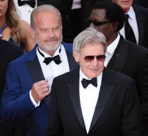 """Harrison Ford au Festival de Cannes 2014 lors de la montée des marches du film """"The Homesman""""."""