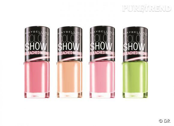 vernis color show bleached neon par gemey maybelline 380 - Vernis Color Show