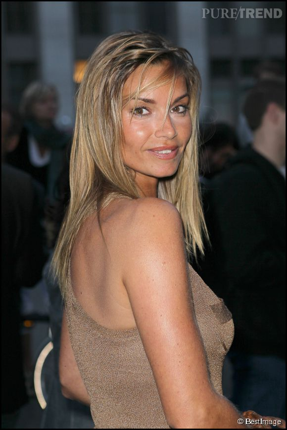 Ingrid Chauvin, plus blonde que jamais pour le cocktail de rentrée de TF1 en septembre 2010.