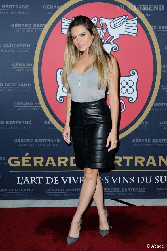 Clara Morgane à la soirée Gerard Bertrand party au Fouquet's le 26 juin 2014.