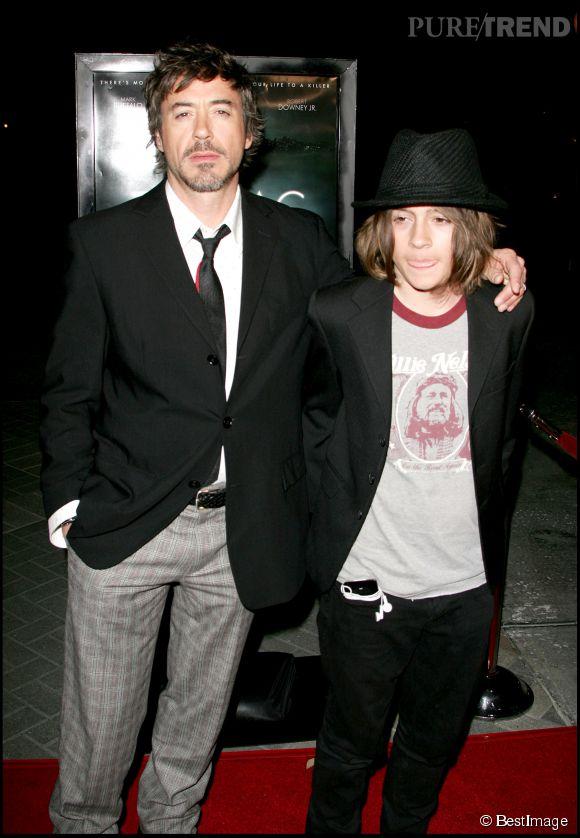 Déjà en 2007, le fils de Robert Downey Jr avait un look d'ado rebelle.