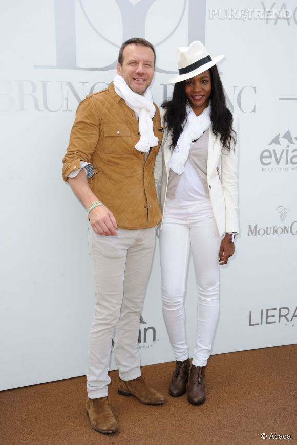 Samuel Le Bihan et sa femme Daniela Beye avant qu'il ne se rase complètement la tête pour La dernière échappée.