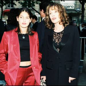 Chantal Lauby et sa fille en 1997.