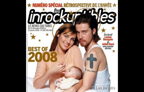 En 2008, Louise Bourgoin et Julien Doré prennent la pose pour  Les Inrocks.