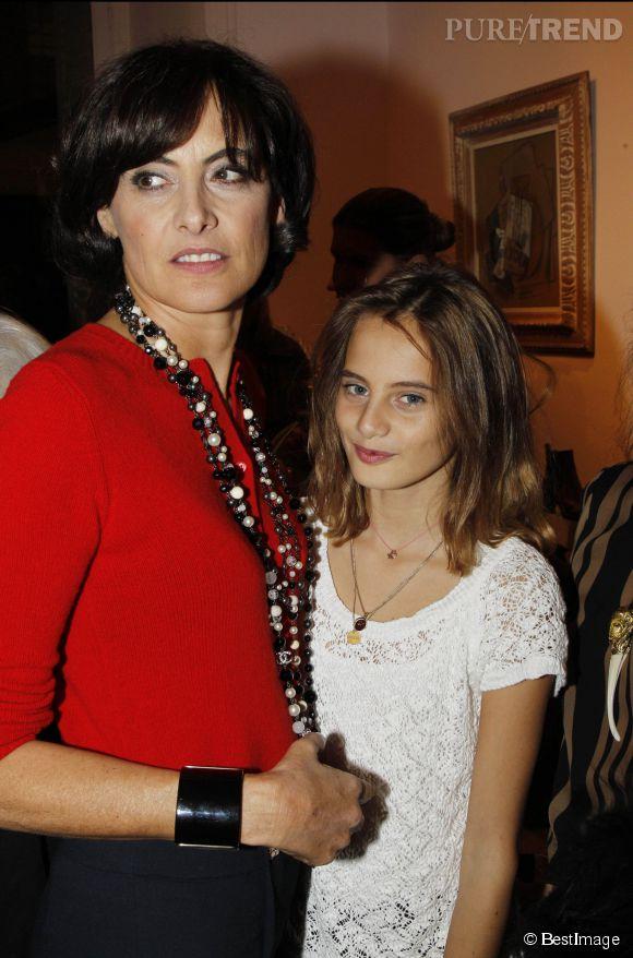 Inès de la Fressange et Violette d'Urso en 2011.