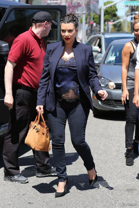 Kim Kardashian ne s'est pas vraiment cachée pendant sa grossesse.