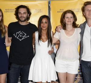 """Déborah François, Pio Marmaï, Alice Belaïdi, Léa Fazer et Nicolas Bridet à l'avant-première du film """"Maestro"""" ce jeudi 17 juillet 2014."""