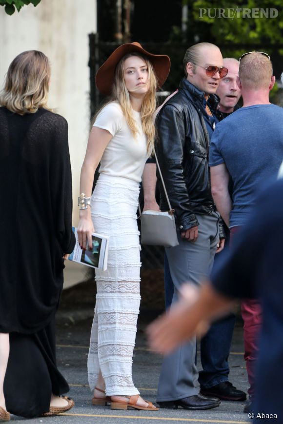Amber Heard et Johnny Depp, le couple ne se quitte plus.