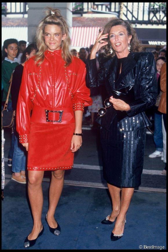 Julie Andrieu et sa maman Nicole Courcel au Festival de Deauville en 1987.