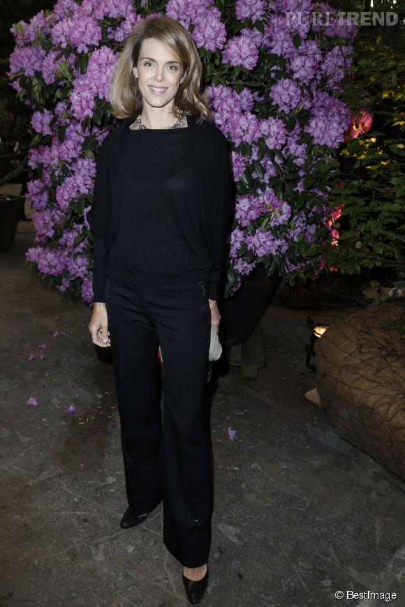 Julie Andrieu lors d'un vernissage au Grand Palais en 2013.