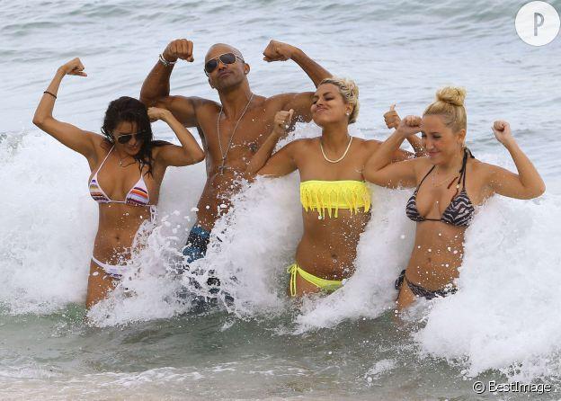 Shemar Moore en vacances à Miami, le 6 juillet 2014.