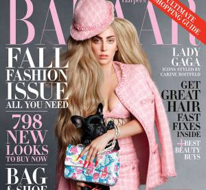 Lady Gaga avec son chien dans Harper's Bazaar : pour concurrencer Choupette ?