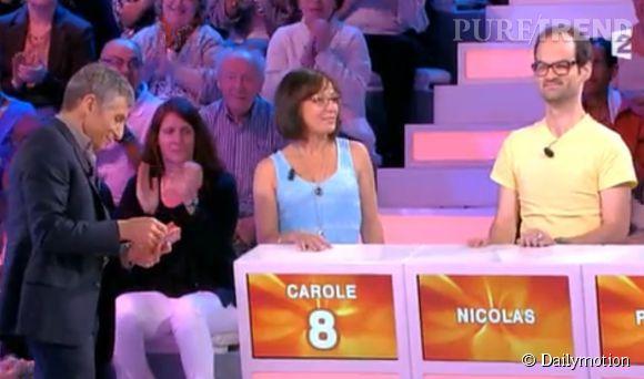 """Ce dimanche 10 août 2014 dans l'émission """"Tout le monde veut prendre sa place"""", Nagui s'en est pris à Mylène Farmer devant les candidats."""