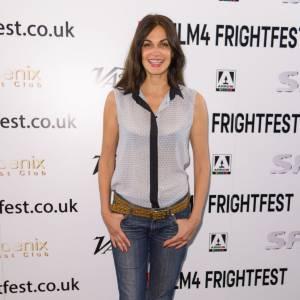 Helena Noguerra affiche un look cool mais sexy au Frightfest Film Festival à Londres le 25 août 2014.