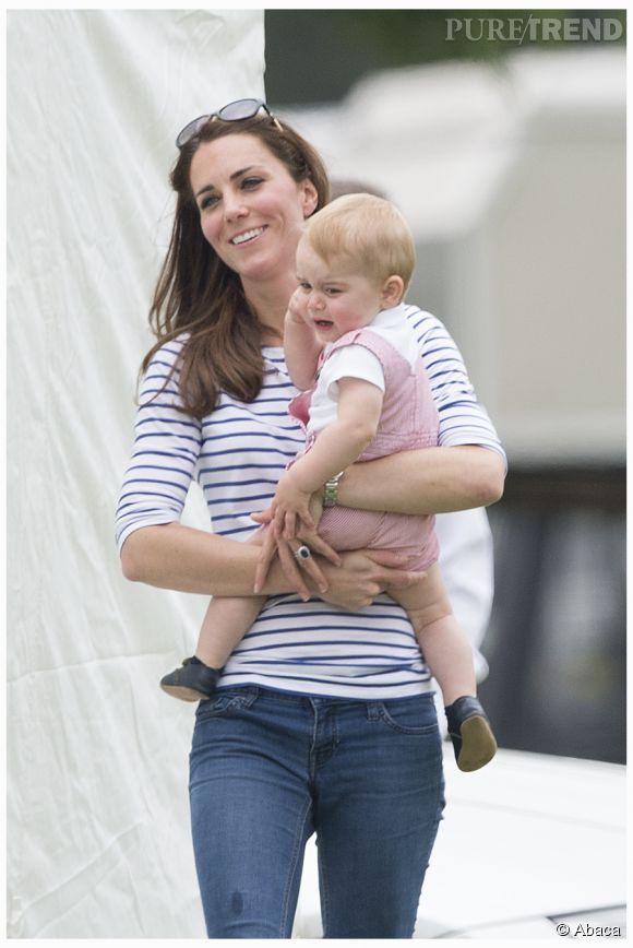 Le petit George ne sera bientôt plus fils unique. Il arrêtera peut-être de râler tout le temps !