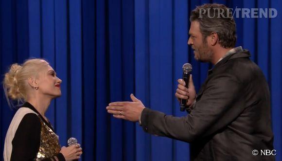 Gwen Stefani et Blake Shelton ont chanté en playback pour Jimmy Fallon. Leur prestation ne restera pas dans les annales...