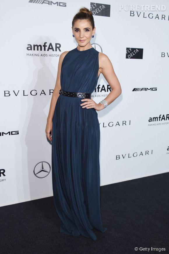 Clotilde Courau au gala de l'amfAR à Milan le 20 septembre 2014.