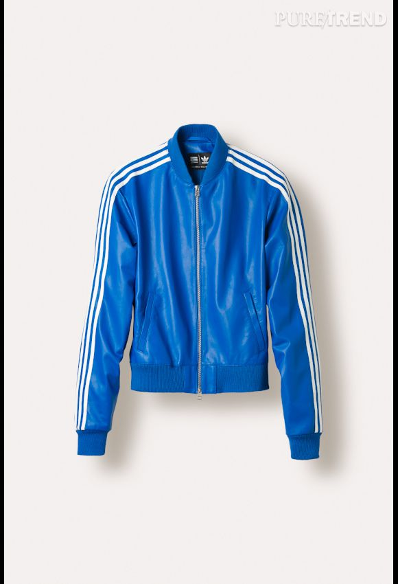 Pharrell et issue Veste Superstar bleue collection Williams Yfb76gy