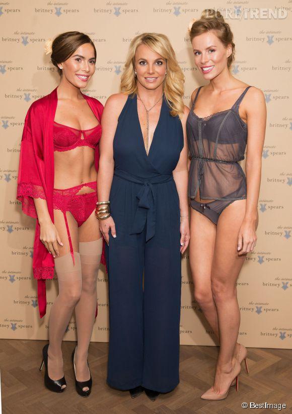 Britney Spears a présenté sa marque de lingerie Britney Spears Intimate lors d'un défilé à Londres.