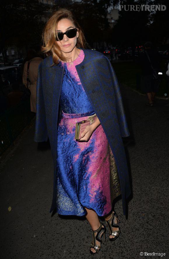 Clotilde Courau à la Fashion Week de Paris pour le défilé Vionnet.