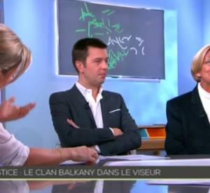 """Isabelle Balkany refuse de répondre aux questions d'Anne-Sophie Lapix dans """"C à Vous""""."""