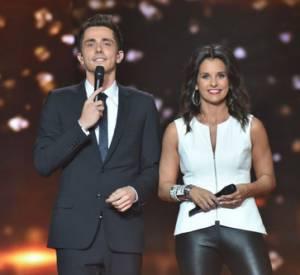 """Faustine Bollaert et Guillaume Pley, les présentateurs de """"Rising Star""""."""