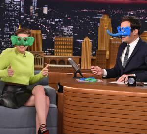 """Kristen Stewart au """"Tonight Show""""."""