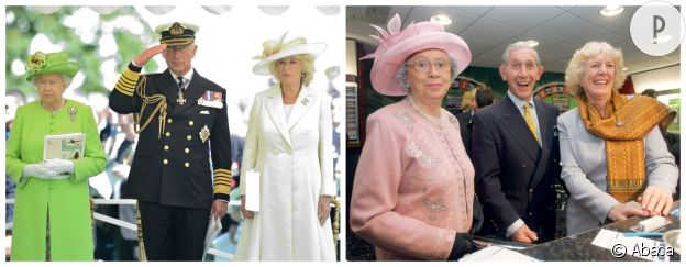 Elisabeth II, le prince Charles et Camilla