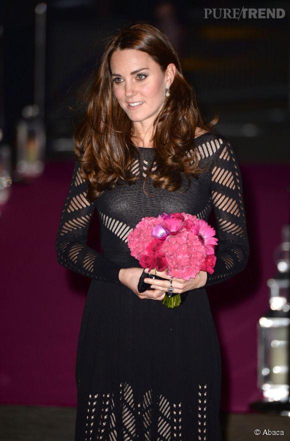 """Kate Middleton au gala automnal de l'association """"Action for Addiction"""" le 23 octobre 2014 à Londres."""