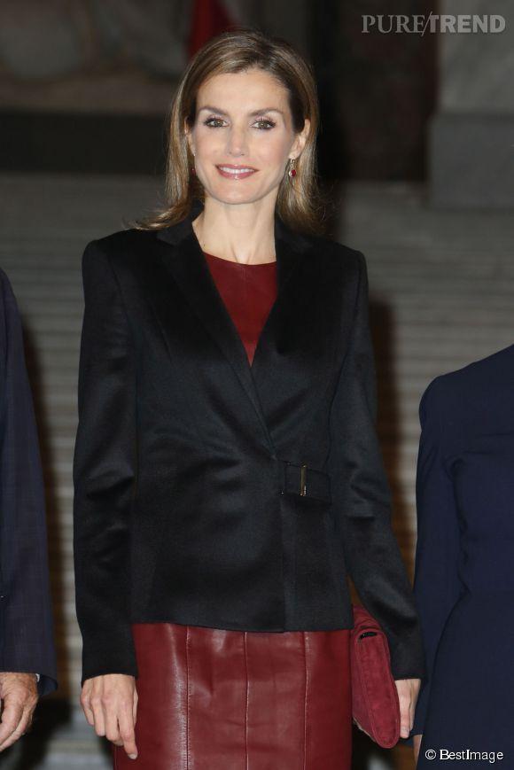 Letizia Ortiz, hier, sans son mari pour une visite officielle à Vienne.