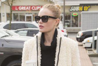Kate Bosworth : la tenue rock'n'roll et le manteau mouton dont on rêve !