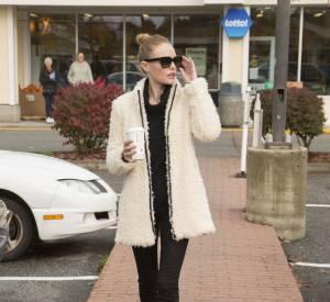 Kate Bosworth, tenue rock'n'roll et confortable pour aller prendre son café.