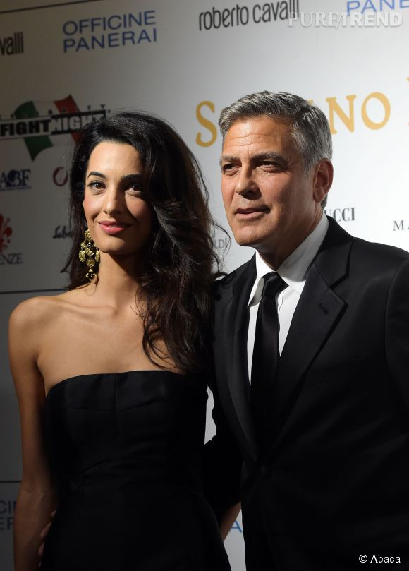 Amal Alamuddin et son mari, George Clooney.