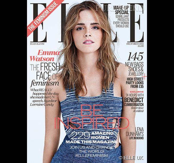 Emma Watson est la cover girl du ELLE UK pour le mois de décembre 2014 où elle affirme une fois de plus son âme de féministe.