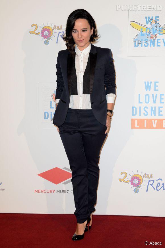 """Alizée à la soirée """"We Love Disney"""" Live organisée au Grand Rex à Paris le 4 novembre 2014."""