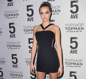 Cara Delevingne : un vrai canon très sexy pour la soirée Topshop