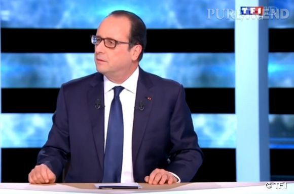 François Hollande sur le plateau de  TF1  ce jeudi 6 novembre 2014.