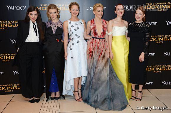 """Lorde, Natalie Dormer, Jennifer Lawrence, Elizabeth Banks, Jena Malone et Julianne Moore réunies à Londres pour l'avant-première mondiale de """"Hunger Games : La Révolte, partie 1""""."""
